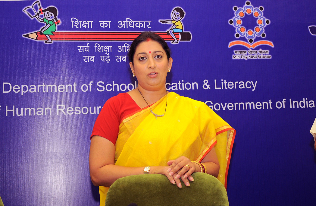 Smt. Smriti Irani at the inauguration of the Conference of State Education Secretaries, in New Delhi